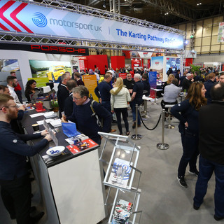 Autosport International Exhibition Signage, Posters, Banners, Kart Plynths, Flyers and Stand designs