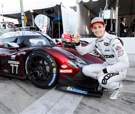 Mazda Sets Track Record With Rolex 24 Hours of Daytona Pole, Penske's To Start Behind