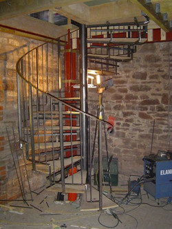 Steel & hardwood in construction