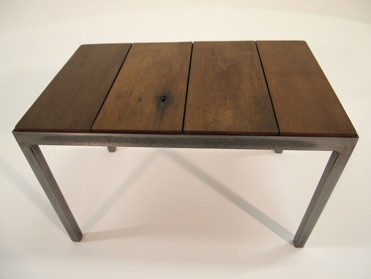 Coffee table - Steel / Mahogany