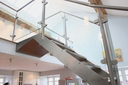 Stainless steel, oak and glass
