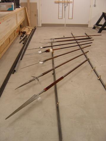 Pole arm display