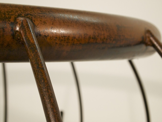 Oil finish on weathered steel