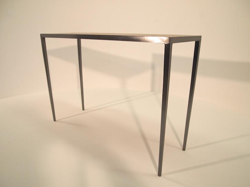 Console table - Steel / Oak
