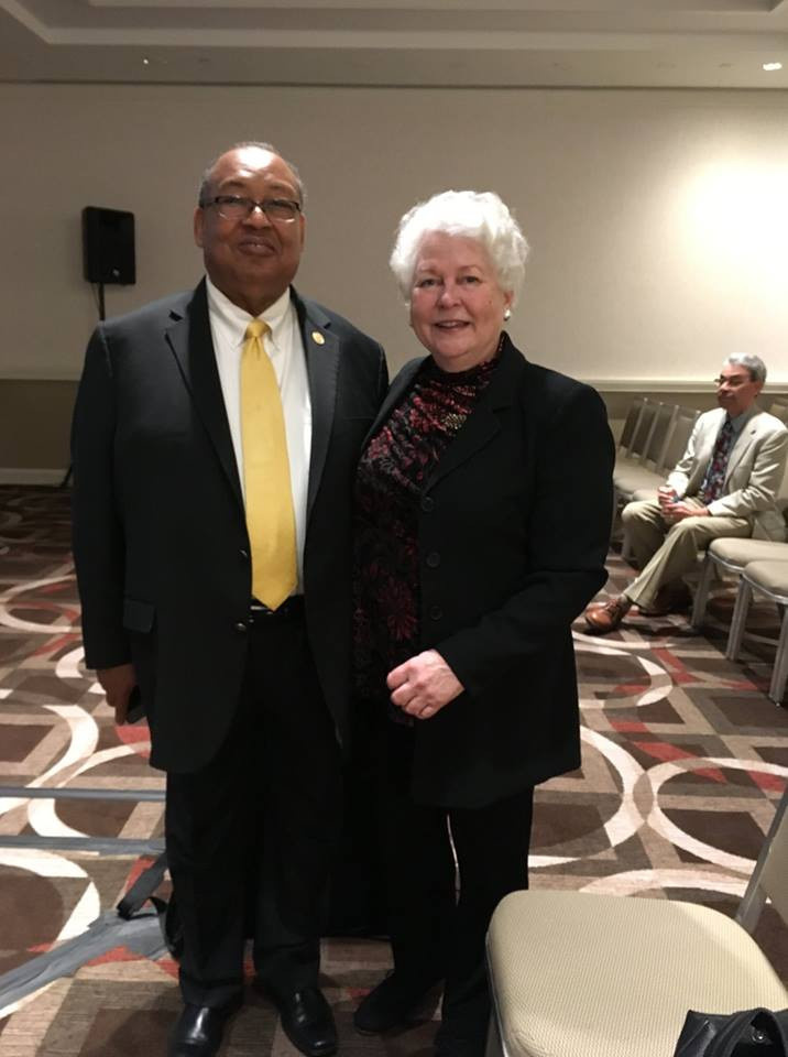 NAACP Chairman of the Board Leon W. Russell with the film's Producer Paula J. Caplan.