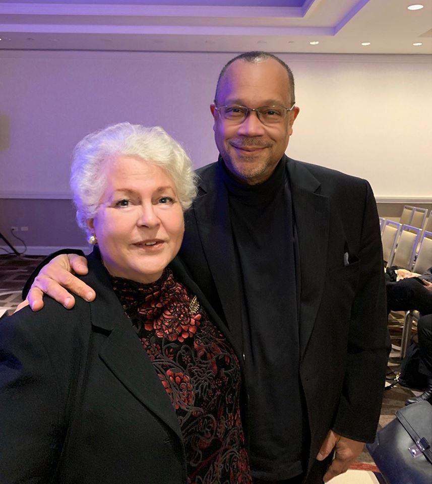 Producer Paula J. Caplan with Music Composer Rodney Jones.