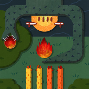 Forethought flambes fruit for falling friends