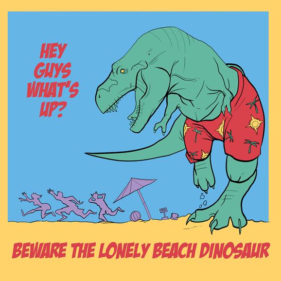 Lonely Beach Dinosaur