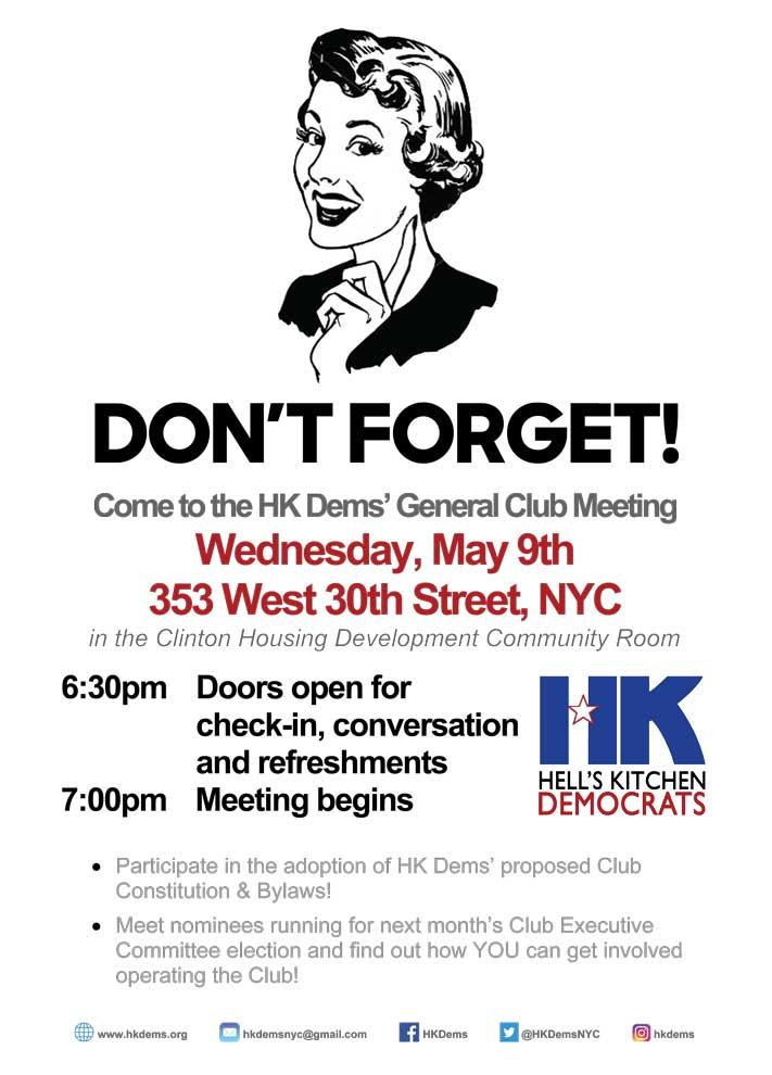 Next Meeting - May 9 2018