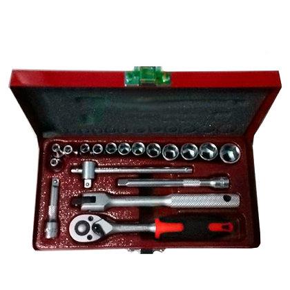 Juego De Tubos 1/4  X 18 Piezas Caja Metal Eurotech