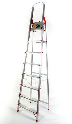 Escalera De Aluminio Reforzada Uso Familiar 8 Escalones