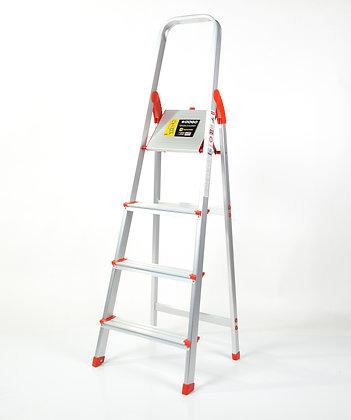 Escalera De Aluminio Reforzada Uso Familiar 4 Escalones