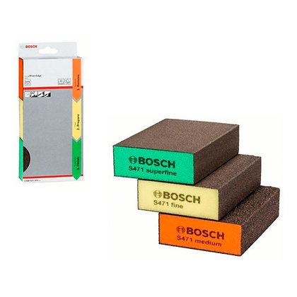 Set De 3 Esponjas Abrasivas Para Lijado Flat+edge Bosch