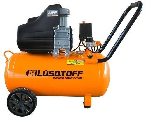 Compresor De Aire 2.5hp 50lts Lc-2550b Lusqtoff Con Kit