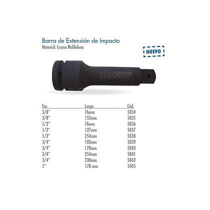 Barra Extension Para Impacto Encastre 3/4x102mm Bremen 5839