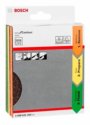 Set De 3 Esponjas Abrasivas Para Lijado Contour Bosch