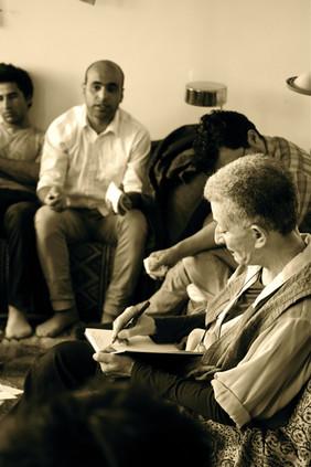 Workshop with actors, Aftaab Theatre, Théâtre du Soleil