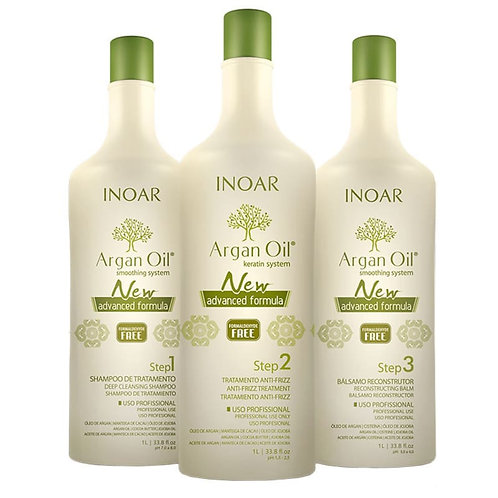 INOAR NEW ADVANCED FORMULA ARGAN OIL SYSTEM 3x1000ml