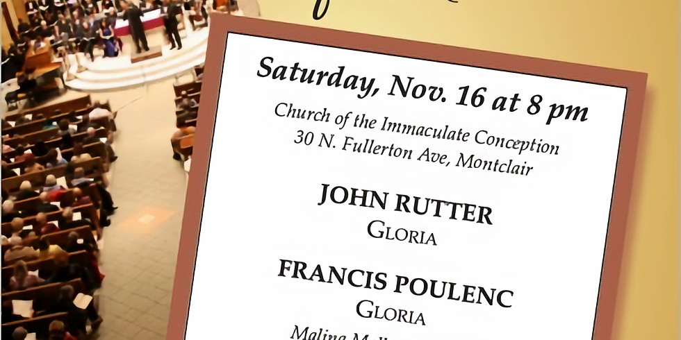 Fall 2019 Concert - A Glorious Evening of Music