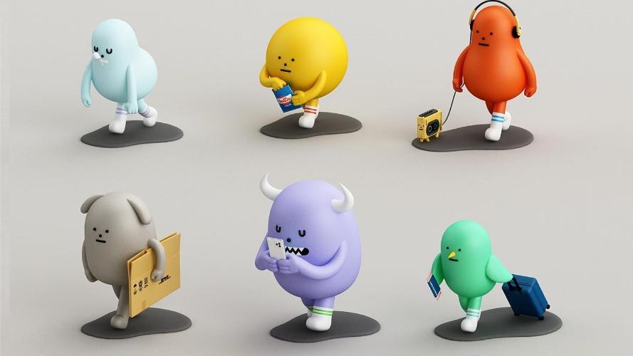 【Sticky Monster Lab X A Good Company】盲盒玩具黏黏怪物研究所「步步」系列
