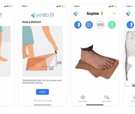 「 Xesto Fit」製作腳部3D圖 匹配不同品牌尺碼再無難度