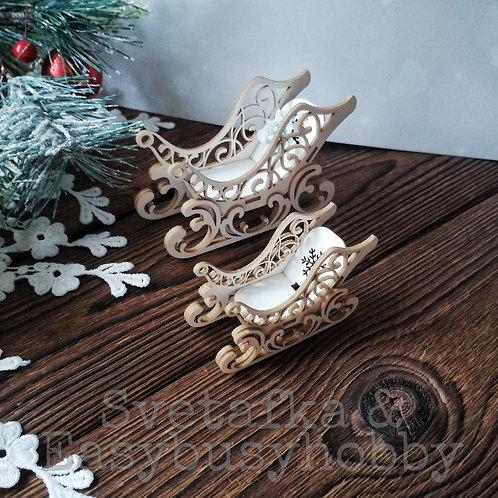 Рождественные сани (9 см)