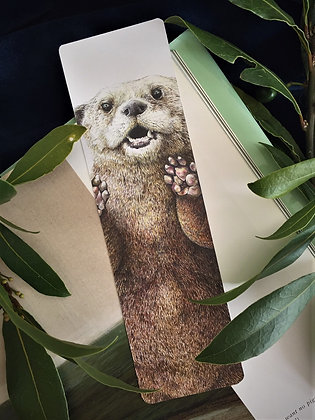 Clyde the Otter Bookmark