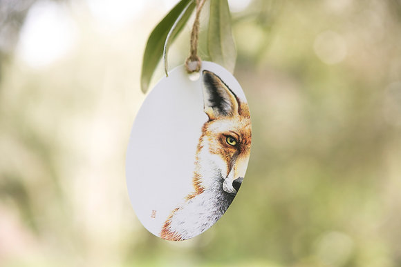 Mr Fox Gift Tag