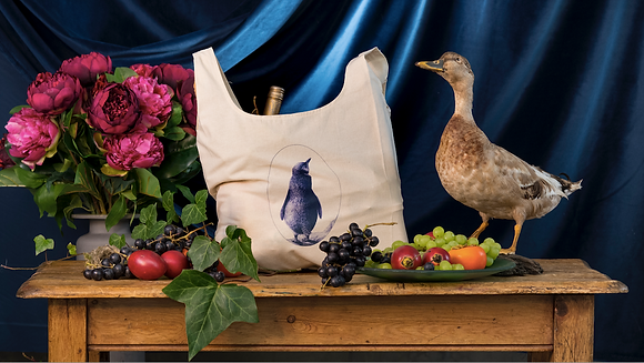 Penguin Organic Cotton Grocery Bag