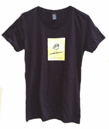Women's T-Shirt with North Island Robin print