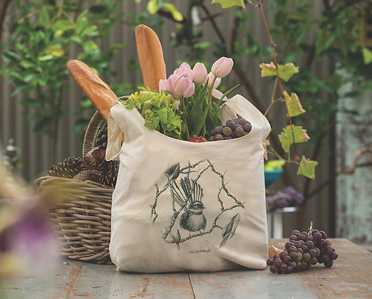 Fantail Organic Cotton Grocery Bag