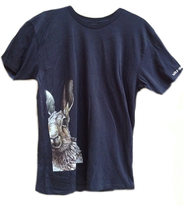 Men's T-Shirt in blue with Moon Hare print