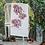 "Thumbnail: Peonies (7 colour) ""Flat White"" Tea Towel"