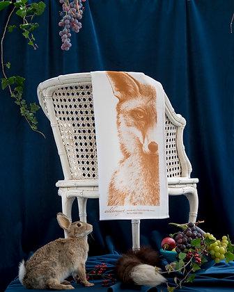 Fluffy Organic Tea Towel with Fox