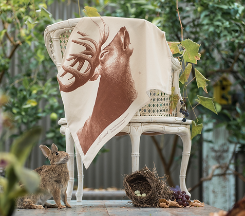 Natural Stag Tea Towel