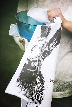 """Moon Hare """"Flat White"""" Tea Towel"""