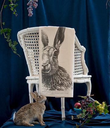 Natural Moon Hare Tea Towel
