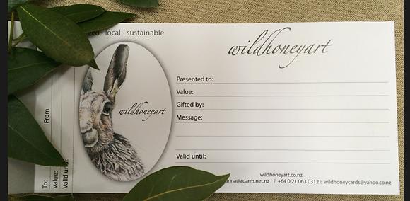 Wild Honey $50 Gift Voucher
