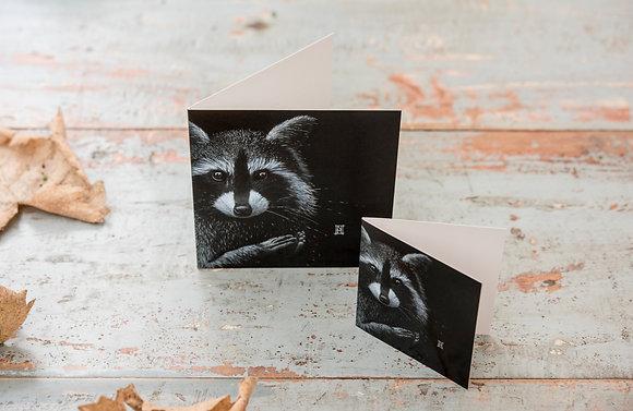 Mini Raccoon Card