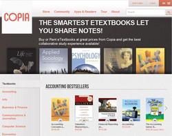 Copia e-textbooks minisite