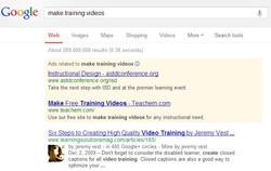Teachem Google SEM ad