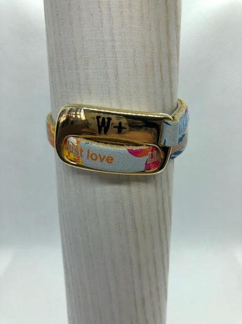 WePositive Single Strap Leather Bracelet Multicolour