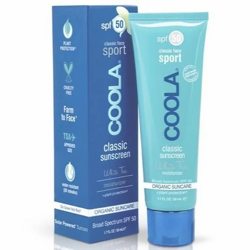 COOLA Classic Face Sunscreen Sport SPF 50 (white tea)