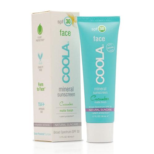 COOLA Matte Mineral Face Sunscreen SPF 30 (Cucumber)