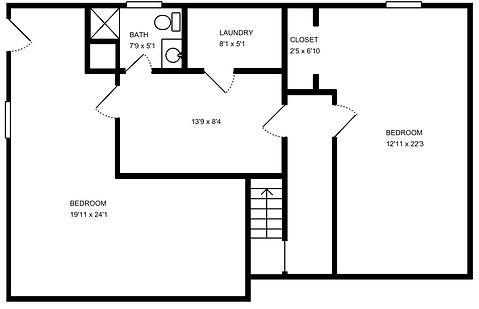131 Water Streeet Floorplan - Second Flo