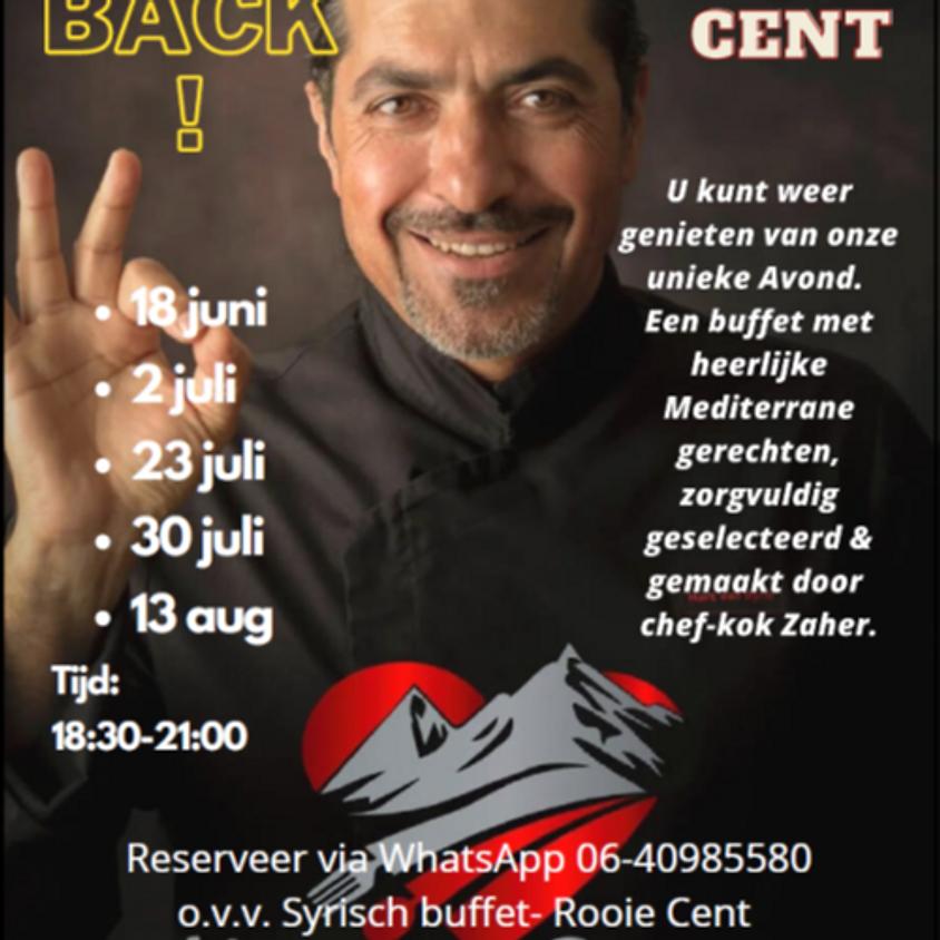 Vanaf 18 juni 2021 weer syrisch buffetten in Rooie Cent