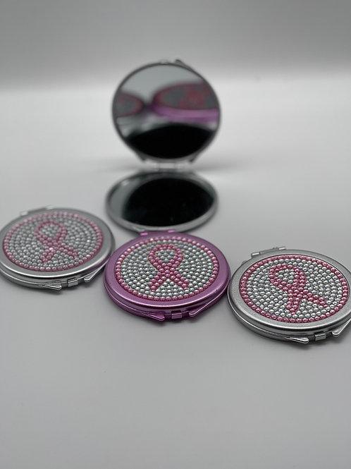 Pink Bling Ribbon Compact