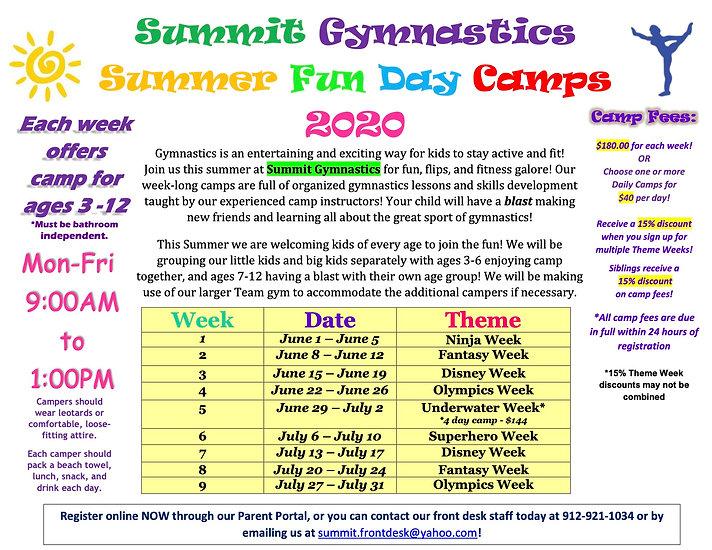 Summer Camp 2020 Full Flyer (JUNE  FINAL