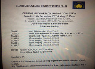 Christmas showjumping schedule now on the website. Saturday16thDecember at Rascal's Equestrian!