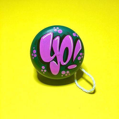 Yoyo n°8 (Vert foncé/Magenta)